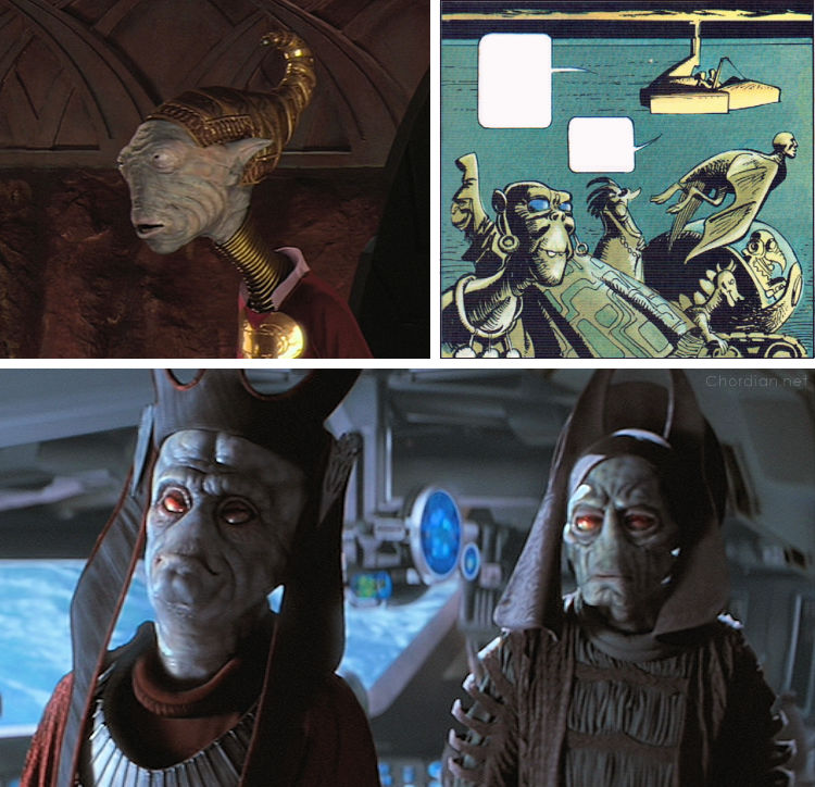 Ambassador of the Shadows (1975) versus The Phantom Menace (1999) and Attack of the Clones (2002)
