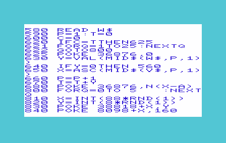 Screenshot of BASIC on a Commodore VIC-20
