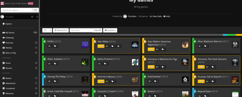 Keep Track of My Games