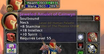 Jeweled Amulet of Cainwyn (WoW)
